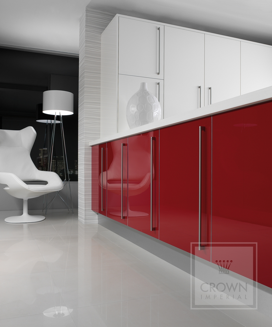 Red-and-white-kitchen-design