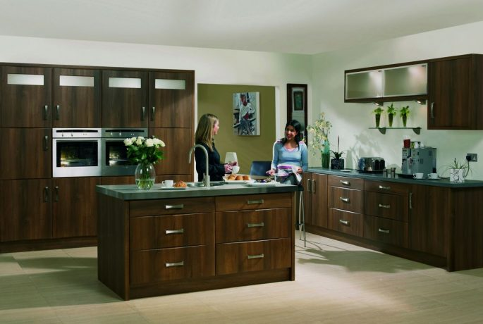 Dark Walnut Roma Kitchen