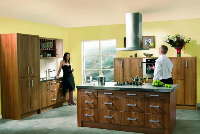 Light Walnut Rimini Kitchen
