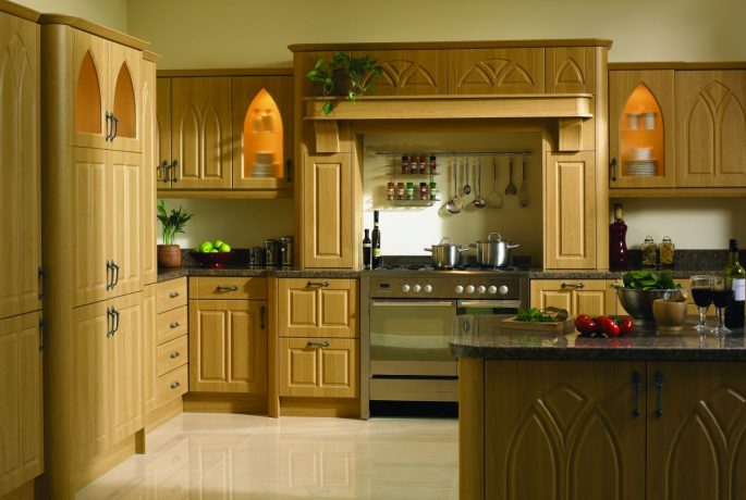 Lissa Oak Gothic Kitchen