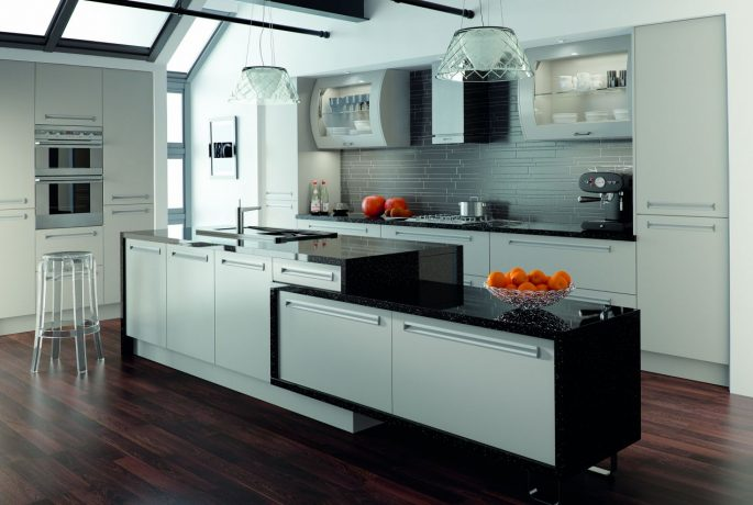 Matt Dove Grey Inset Kitchen