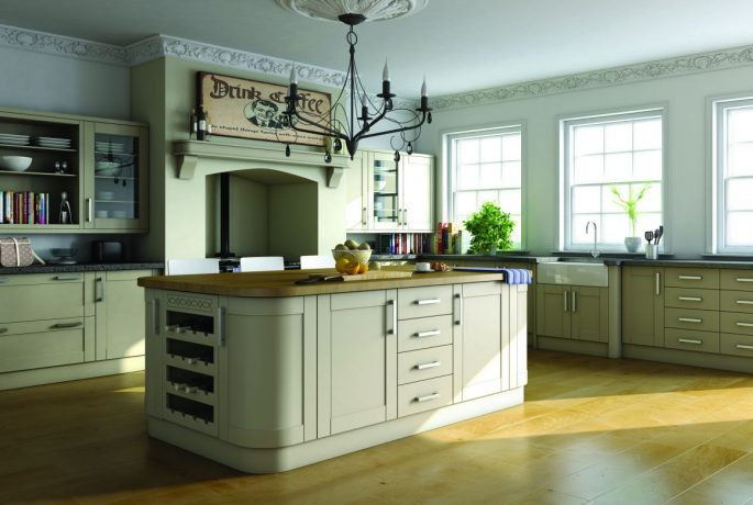 Paintable White Lead Deep Shaker Kitchen