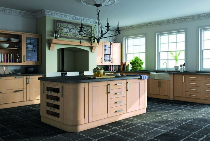 Swiss Pear Shaker Kitchen