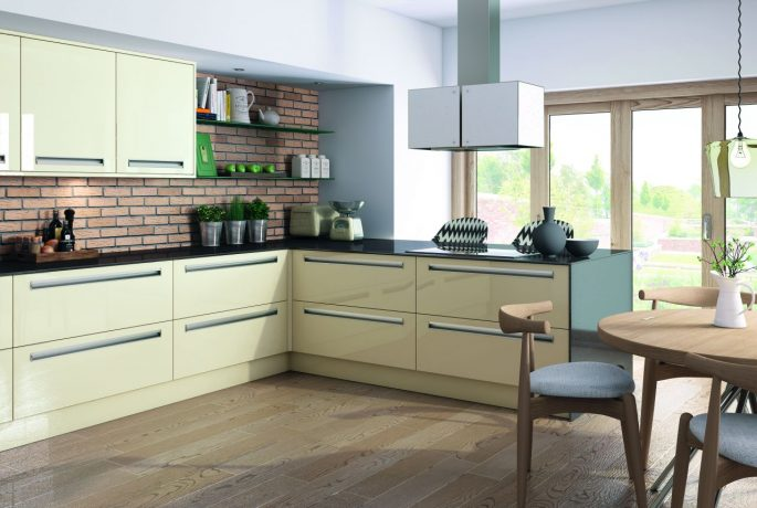 Ultra Gloss Mussel Kitchen